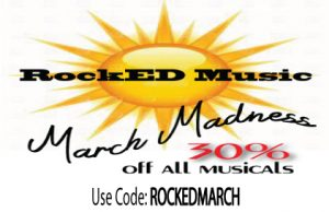 30% off all musicals during March